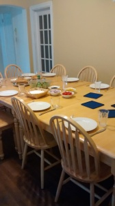 Table is set for our first dinner as a house last September